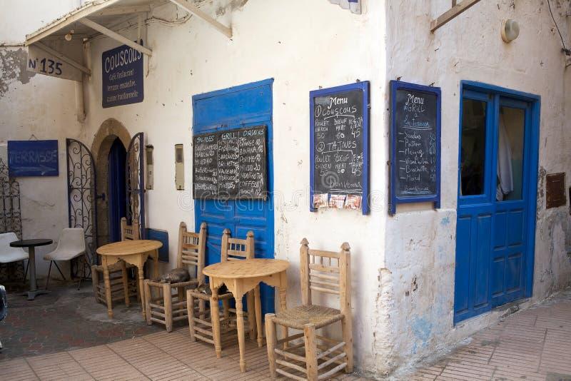 Taverna dans Essaouira Maroc image libre de droits