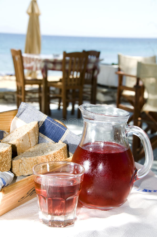 Taverna food seaside greek island royalty free stock photos