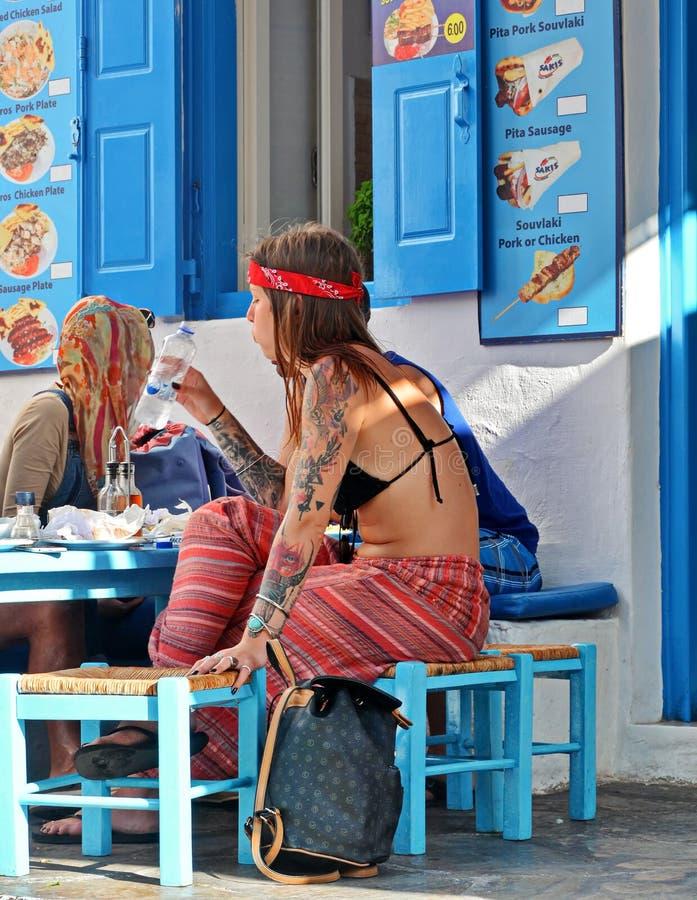 Taverna griego imagen de archivo libre de regalías