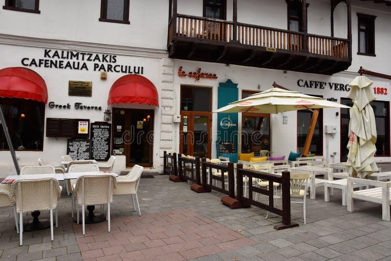 Taverna griego en Sinaia imágenes de archivo libres de regalías