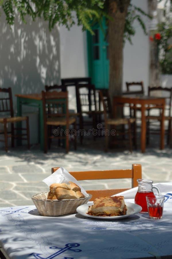 Taverna Mittagessen stockbild