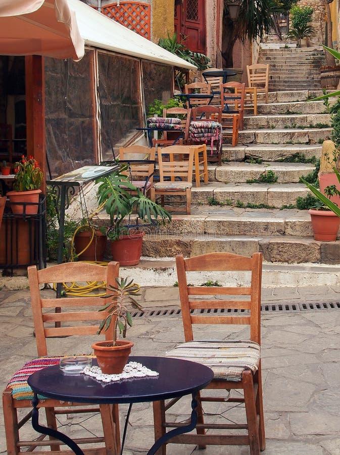 Taverna, Plaka, Athen stockbilder