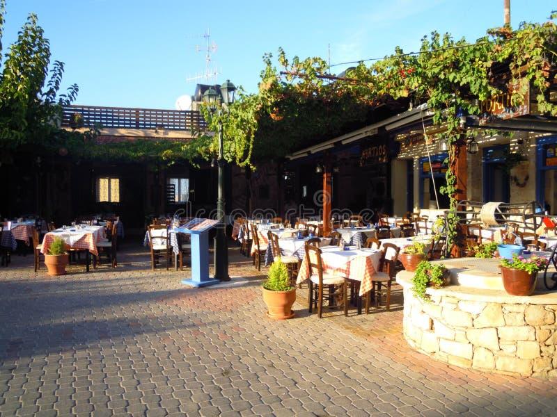 Taverne en Grèce image libre de droits