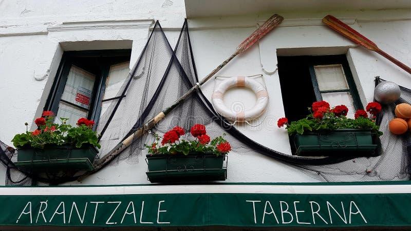 Taverne, Guecho, Vizcaya, Spanien lizenzfreie stockfotografie