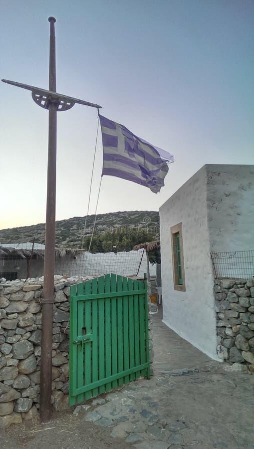 Taverne sur l'île de Levitha image stock