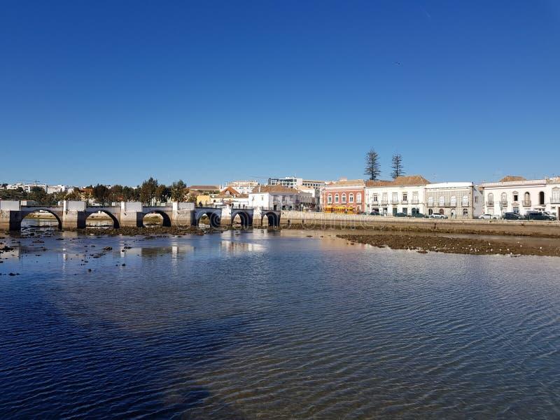 Tavira-Fluss stockbilder
