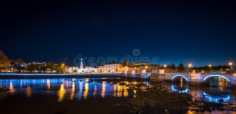 Tavira Portugal la nuit photo libre de droits