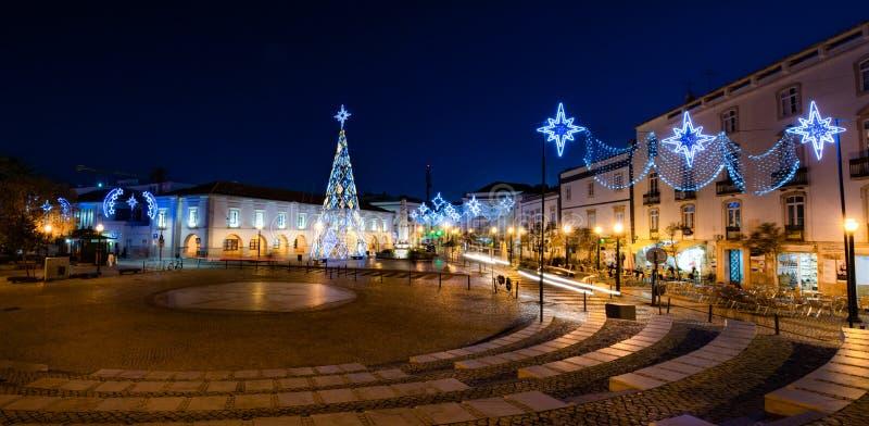 Tavira Portugal la nuit photos libres de droits