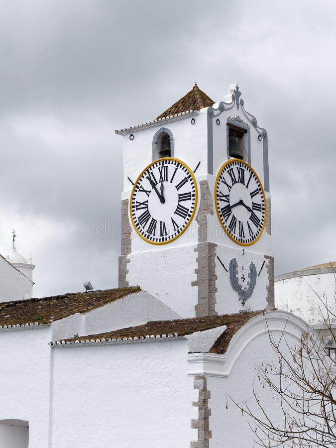 TAVIRA, SOUTHERN ALGARVE/PORTUGAL - MARCH 8 : Santa Maria do Castelo Church in Tavira Portugal on March 8, 2018 royalty free stock photography
