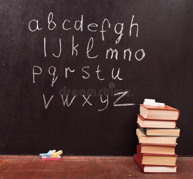 tavla för alfabet vektor illustrationer