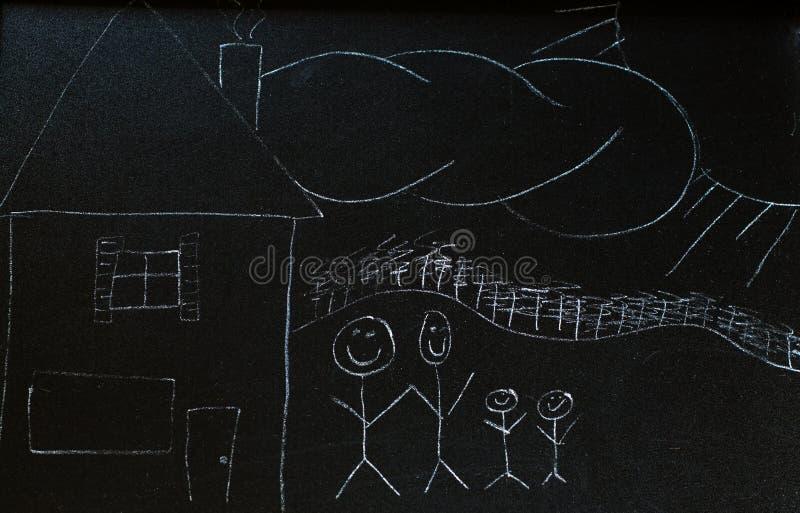 tavlafamilj arkivbild
