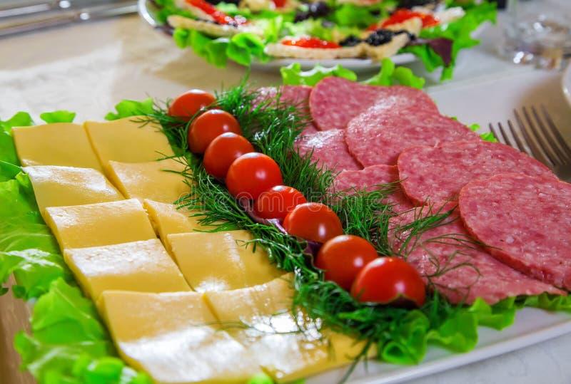 Tavola di festa, alimento immagini stock