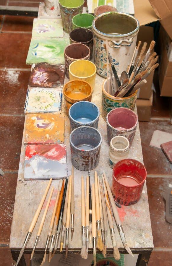 Download Tavola Di Lavoro Del Decoratore Immagine Stock - Immagine di decorativo, tiraggio: 55352665