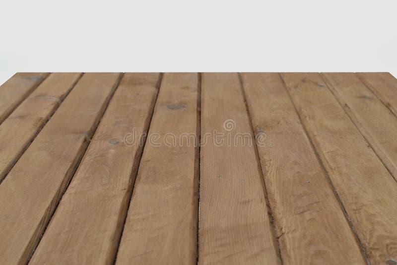 Tavola di legno marrone di legno di vista superiore di struttura fotografie stock