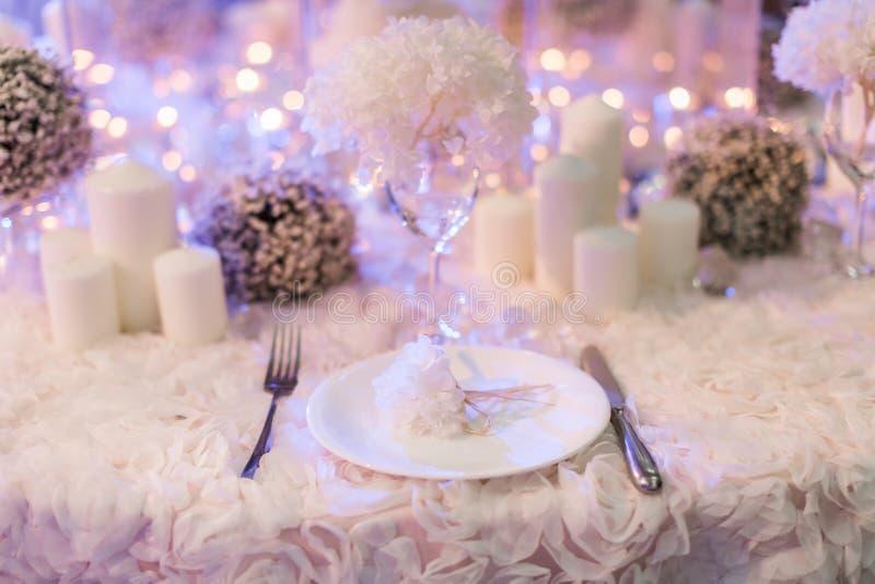 Tavola di nozze immagine stock libera da diritti
