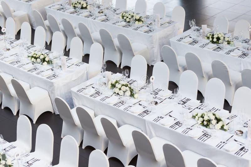 Tavola di nozze fotografia stock libera da diritti