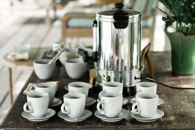 Tavola di tè di pomeriggio in hotel fotografia stock