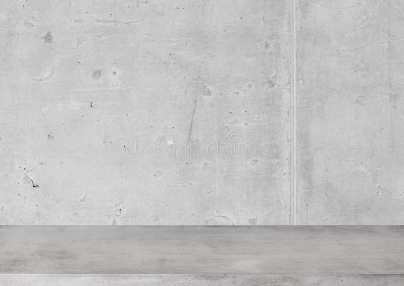 Tavola e parete concrete fotografie stock libere da diritti