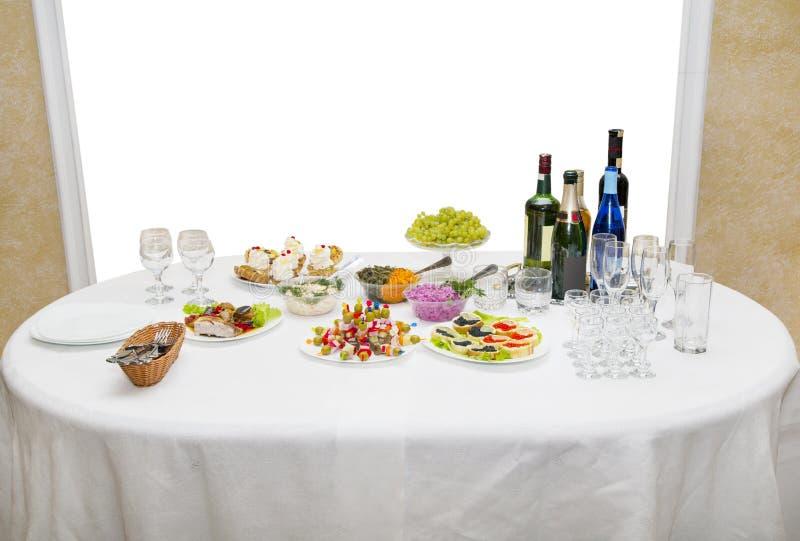 Tavola festiva per buffet immagini stock