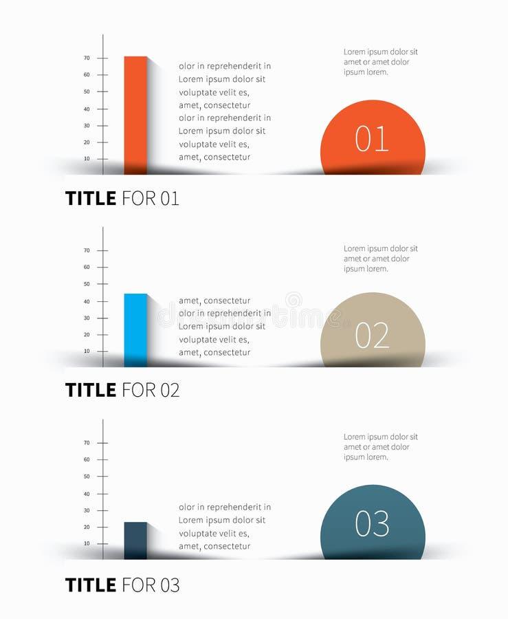 Tavola infographic di vettore illustrazione di stock
