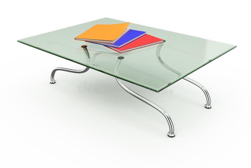 Tavolino da salotto con la pila di scomparti illustrazione di stock