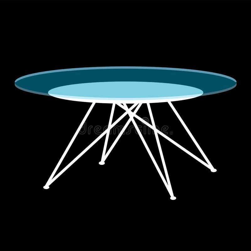 Tavolino da salotto di vetro moderno illustrazione vettoriale