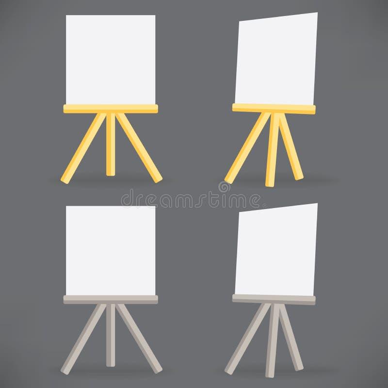 Tavolo Da Disegno Di Legno Del Cavalletto Di Vettore