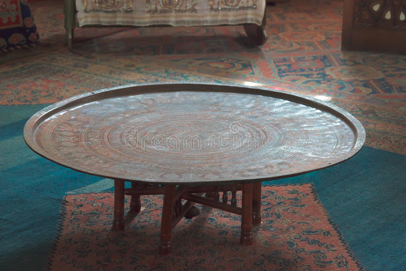 Tavolo da pranzo nel palazzo Bakhchisaray del Khan immagine stock