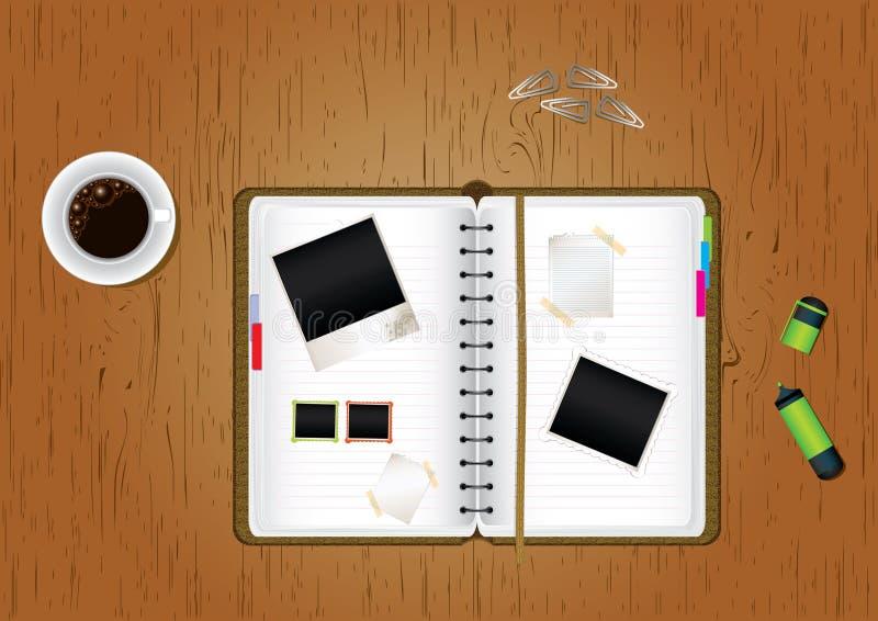 Tavolo dell'ufficio illustrazione di stock