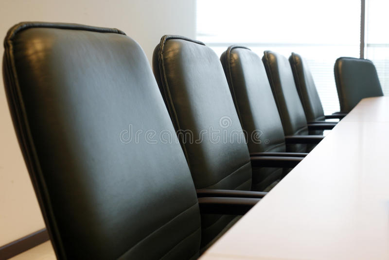 Tavolo di riunione fotografia stock