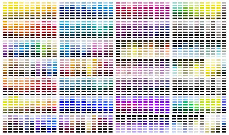 Tavolozza del campione di riferimento di colore illustrazione di stock