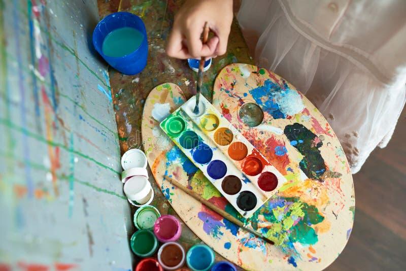 Tavolozza della pittura di Childs fotografie stock libere da diritti