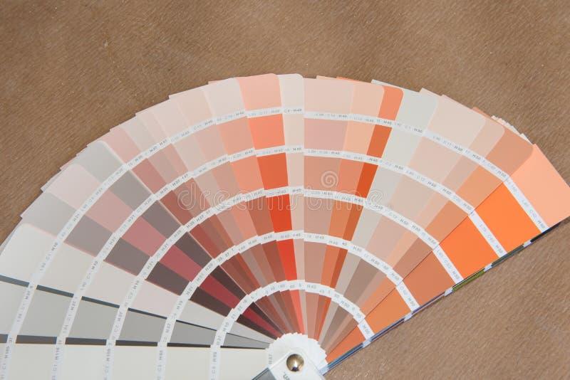 Tavolozza di colore che si trova sulla terra per scegliere per da rinnovamento fotografia stock