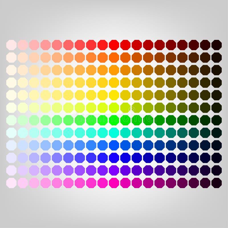 Tavolozza di colore con ombra dei colori illustrazione di stock