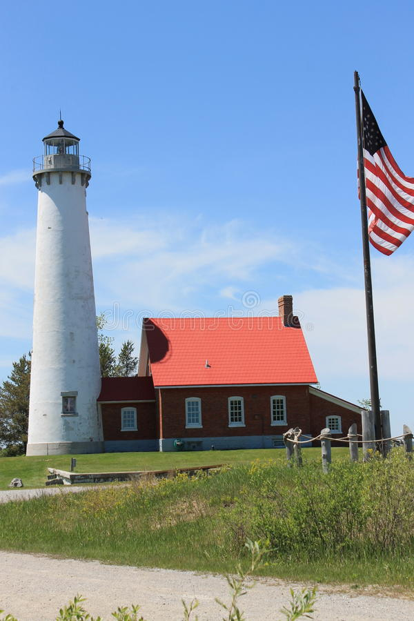Free Tawas Point Lighthouse 2, Michigan. Along Lake Huron Stock Photos - 58727783