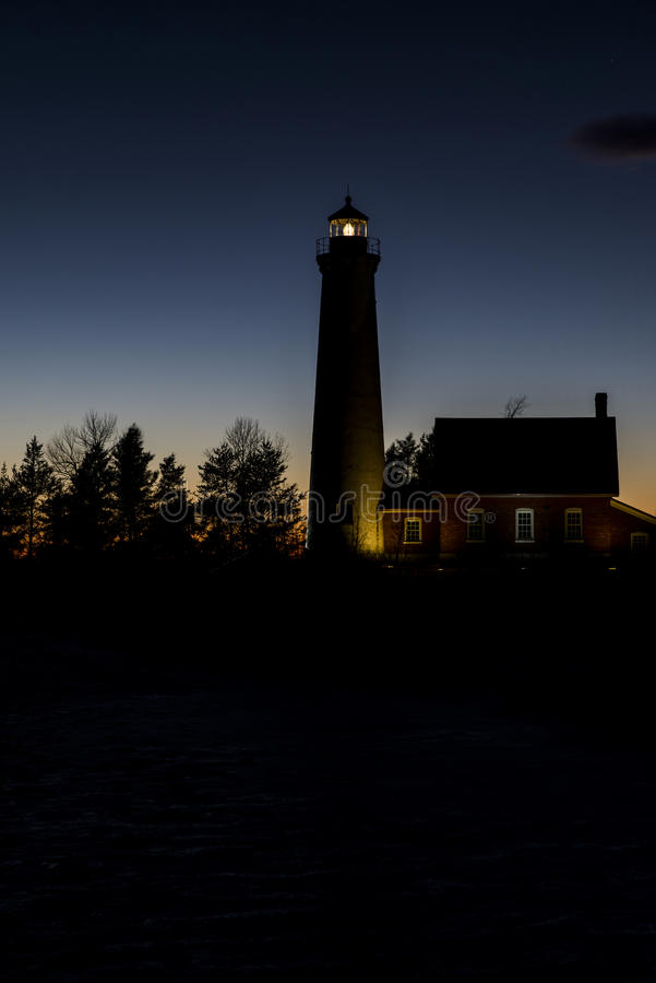 Tawas Point Lighthouse royalty free stock image