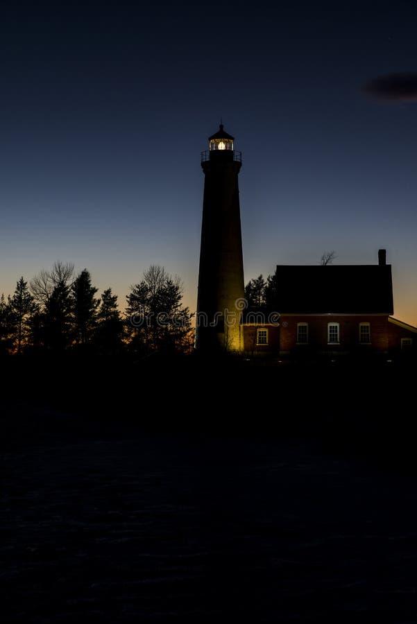Tawas-Punkt-Leuchtturm lizenzfreies stockbild
