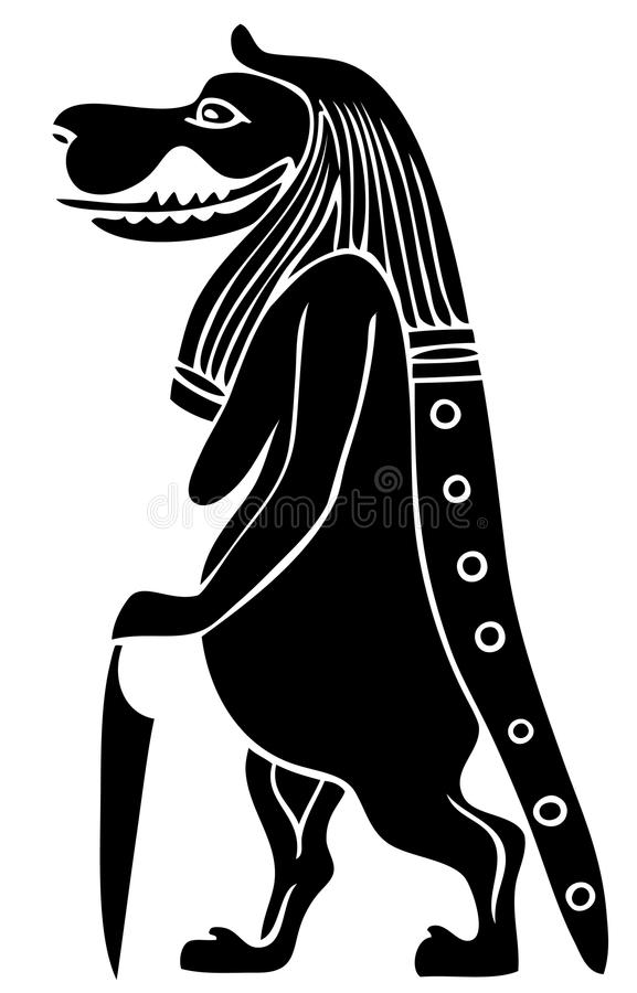 Taweret - mythical creature of Ancient Egypt. Goddess of Fertility and Childbirth royalty free illustration