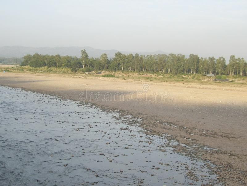 Tawi River, Jammu, India. Tawi River landscape view, Jammu, India royalty free stock photography