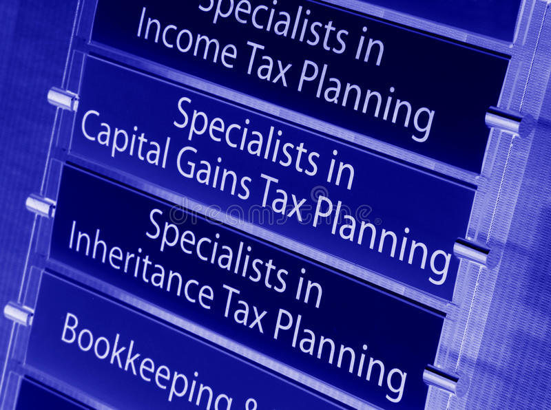 Tax. Financial services specialized in tax planning (banners stock images