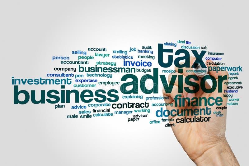 Tax advisor word cloud stock image