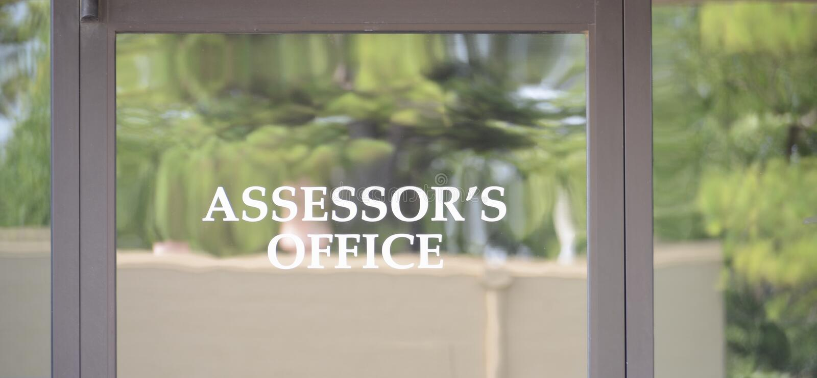 Tax Assessment Assessor`s Office royalty free stock photo