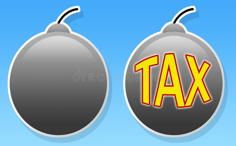 Download Tax bomb stock illustration. Illustration of munition - 13523897