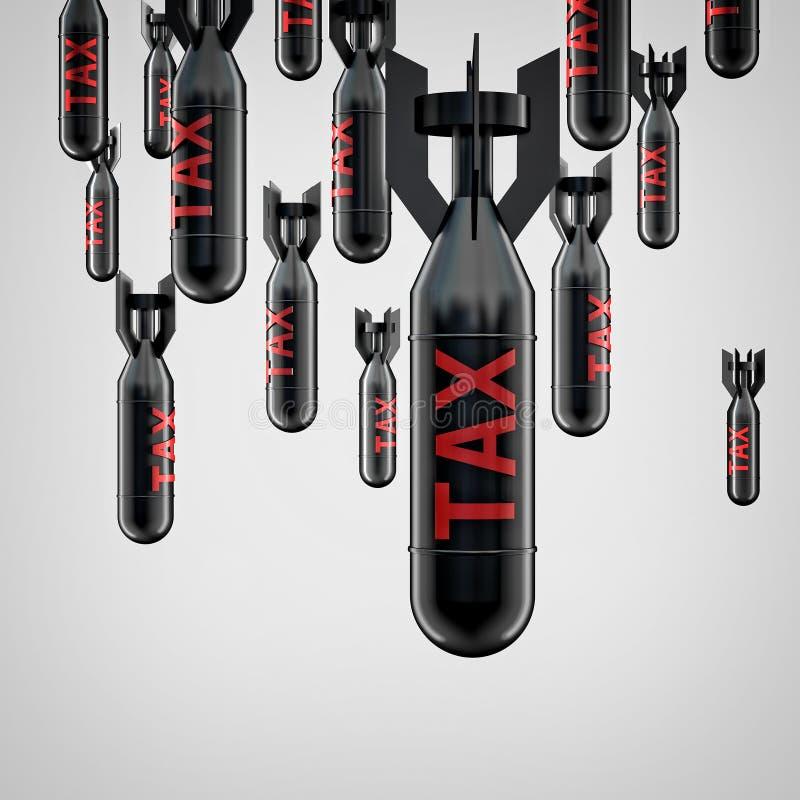 Tax bomb. 3d image of tax bomb royalty free illustration
