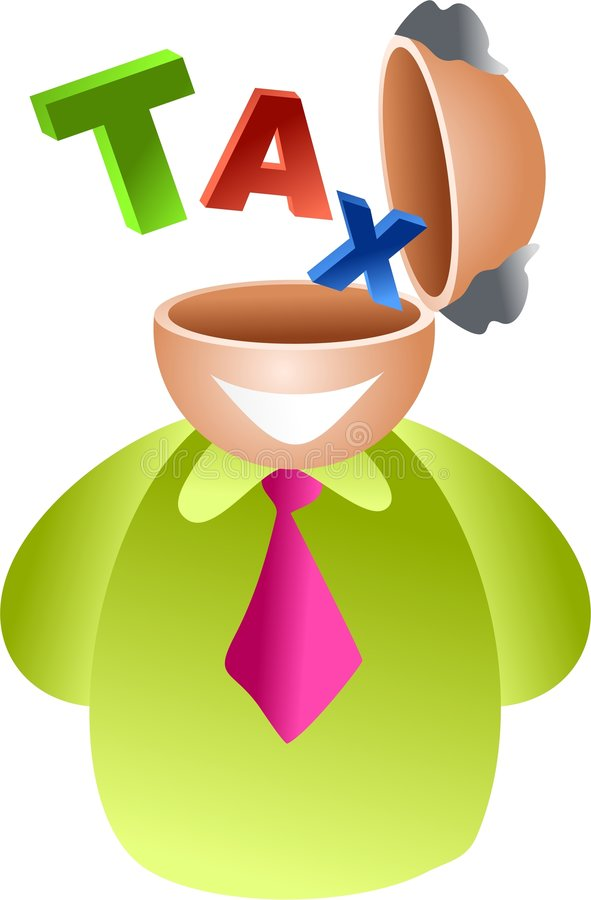 Tax brain royalty free illustration