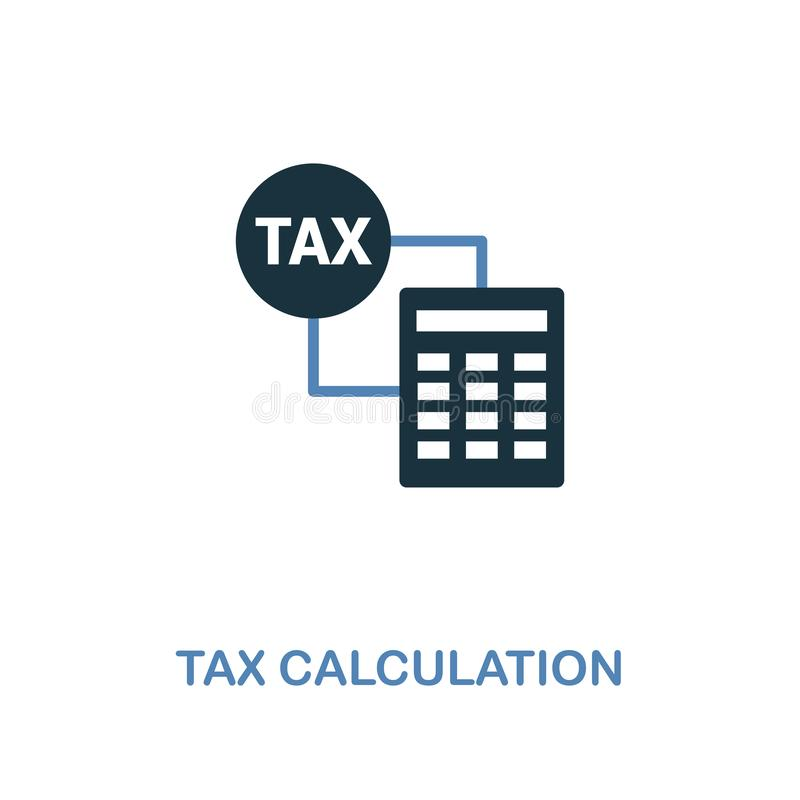 Tax Calculation icon in two colors design. Pixel perfect symbols from personal finance icon collection. UI and UX. Illustration of. Tax Calculation creative icon stock illustration