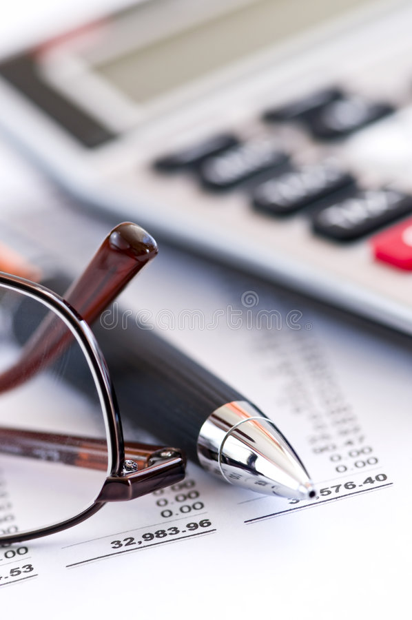 Download Tax Calculator Pen And Glasses Stock Photos - Image: 7965913