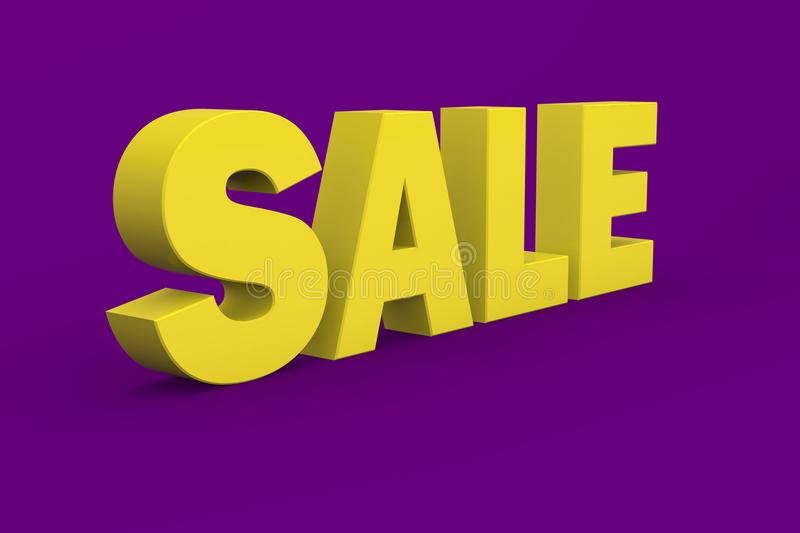Tax 3D in yellow Color With purple Background royalty free stock photos