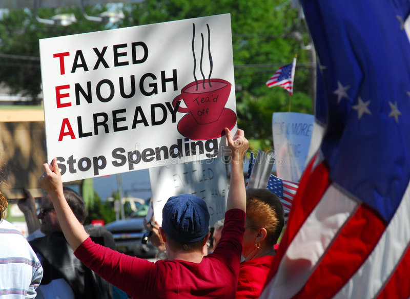 Tax Day Protests stock photo
