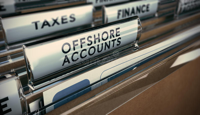 Tax Evasion, Offshore Account vector illustration